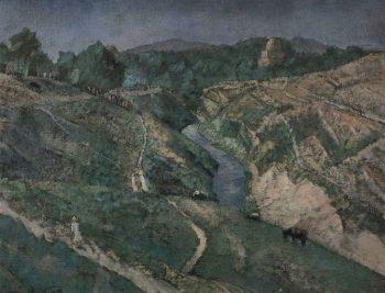 Samarkand Rukhabad 1921 | Petrov Vodkin Kuzma Sergeevich | oil painting