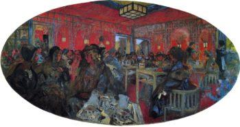 Le Grand Teddy Tea Room | Edouard Vuillard | oil painting