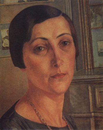 Portrait SN Andronikova 1925 | Petrov Vodkin Kuzma Sergeevich | oil painting