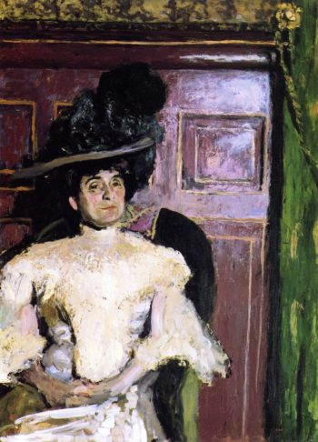 Lucy Hessel in a Green Hat | Edouard Vuillard | oil painting