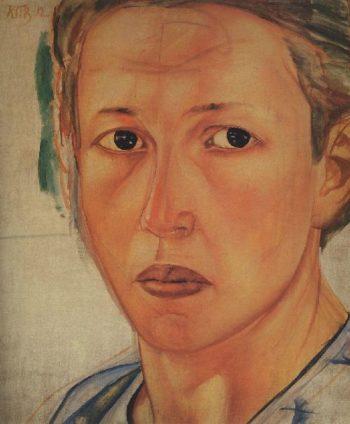 Portrait of Grekova Kozachka 1912 | Petrov Vodkin Kuzma Sergeevich | oil painting