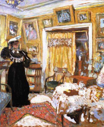 Lucy Hessel in the Small Salon rue de Rivoli | Edouard Vuillard | oil painting