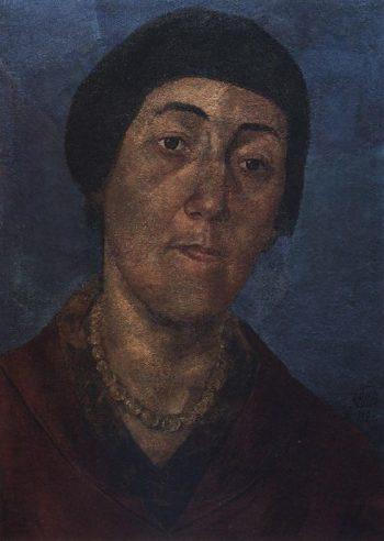 Portrait MF Petrova Vodkin wife of the artist 1922 | Petrov Vodkin Kuzma Sergeevich | oil painting