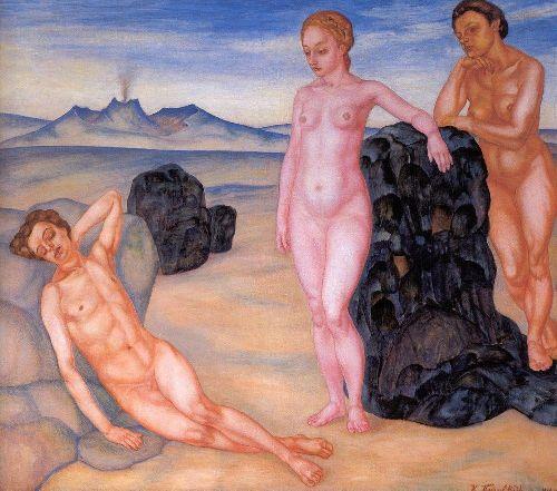 Sleep 1910   Petrov Vodkin Kuzma Sergeevich   oil painting