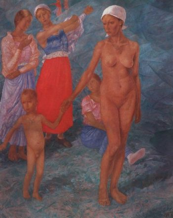 Morning Bathers 1917 | Petrov Vodkin Kuzma Sergeevich | oil painting