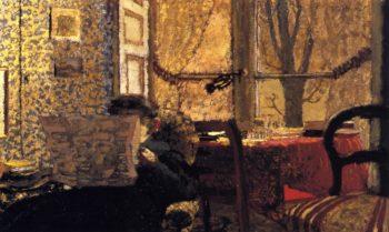 Madame Vuillard Reading the Newspaper | Edouard Vuillard | oil painting