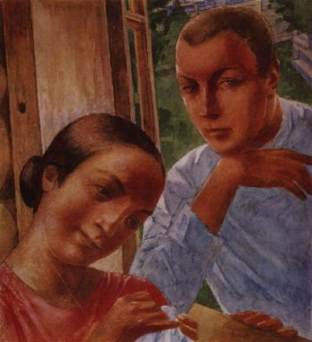 Spring in the Country 1 1929 | Petrov Vodkin Kuzma Sergeevich | oil painting