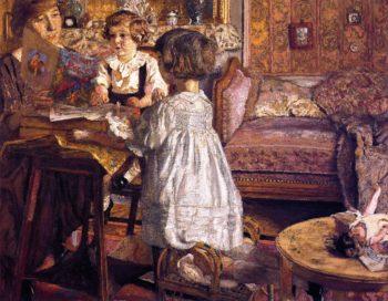 Madame Weil and Her Children | Edouard Vuillard | oil painting