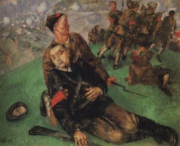 Death Commissioner 1927 | Petrov Vodkin Kuzma Sergeevich | oil painting