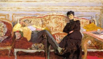 M and Mme Feydeau on a Sofa | Edouard Vuillard | oil painting