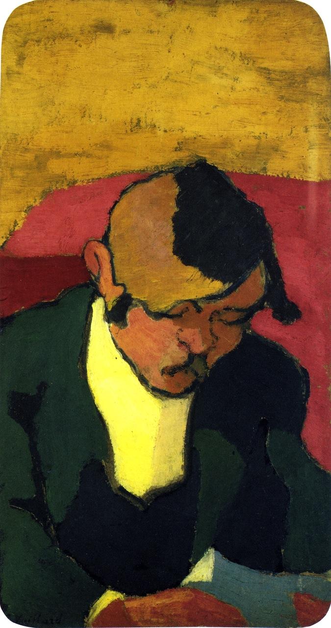 Man Reading | Edouard Vuillard | oil painting
