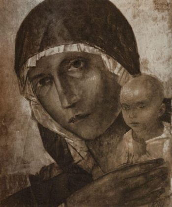 Madonna and Child 1923 | Petrov Vodkin Kuzma Sergeevich | oil painting