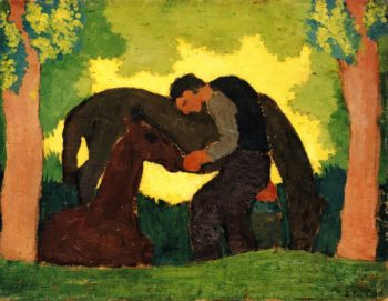 Man with Two Horses | Edouard Vuillard | oil painting