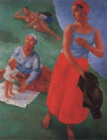 First Steps 1925 | Petrov Vodkin Kuzma Sergeevich | oil painting