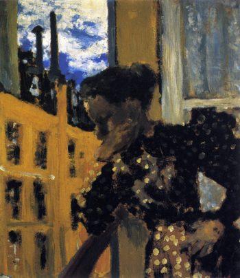 Marie at the Balcony Railing | Edouard Vuillard | oil painting
