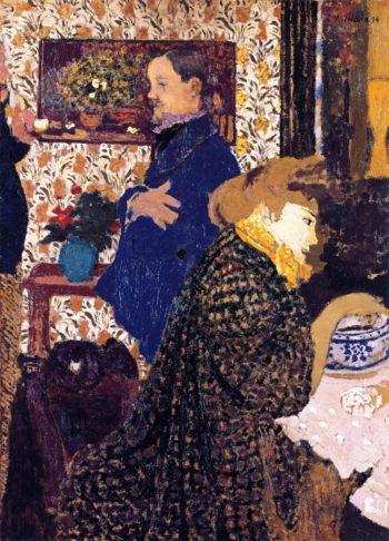 Misia and Vallotton at Villeneuve | Edouard Vuillard | oil painting