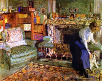 Miss Marguerite Chapin with Her Fox Terrier | Edouard Vuillard | oil painting