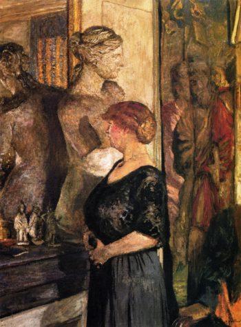 Mme Val Synave in the rue de Calais Apartment | Edouard Vuillard | oil painting