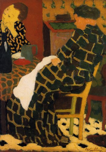 Mother and Daughter at the Table | Edouard Vuillard | oil painting