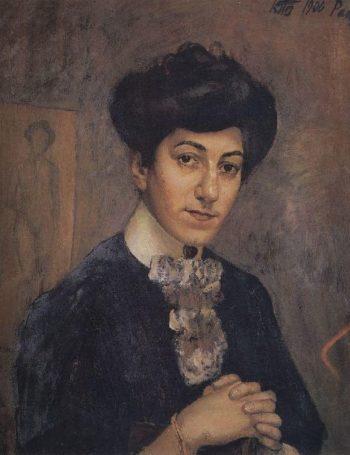 Portrait of the artists wife 1906 | Petrov Vodkin Kuzma Sergeevich | oil painting