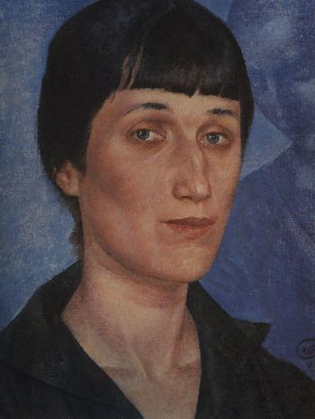 Portrait of Anna Akhmatova 1922 | Petrov Vodkin Kuzma Sergeevich | oil painting