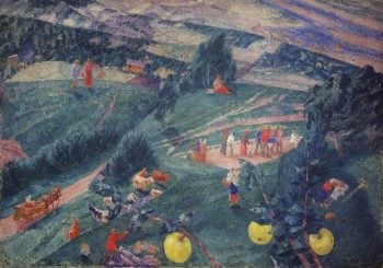 Noon Summer 1917 | Petrov Vodkin Kuzma Sergeevich | oil painting