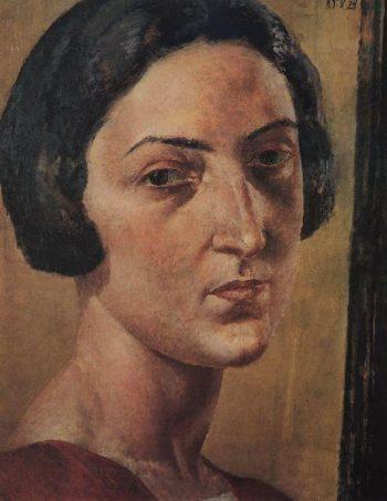Portrait LM Ehrenburg 1924 | Petrov Vodkin Kuzma Sergeevich | oil painting