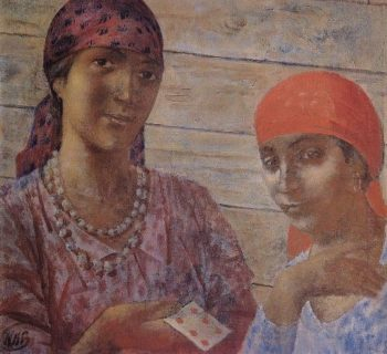 gypsy 1926 1927 | Petrov Vodkin Kuzma Sergeevich | oil painting