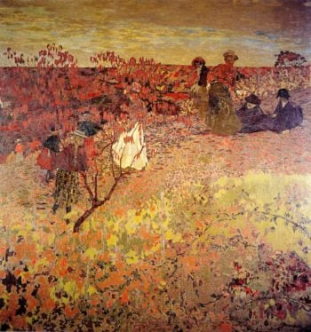 Promenade in the Vineyard | Edouard Vuillard | oil painting