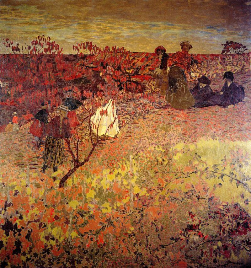 Promenade in the Vineyard | Edouard Vuillard | oil painting
