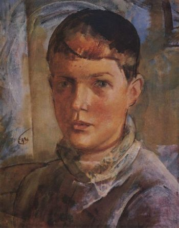 Daughter of the artist 1933 | Petrov Vodkin Kuzma Sergeevich | oil painting