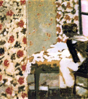 Seamstress with Scraps | Edouard Vuillard | oil painting