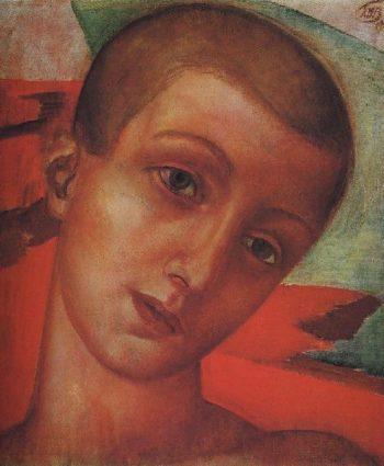 head boys 1910 | Petrov Vodkin Kuzma Sergeevich | oil painting
