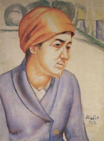 Portrait MF Petrova Vodkin 1912 | Petrov Vodkin Kuzma Sergeevich | oil painting