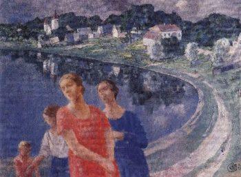 In Shuvalov 1926 | Petrov Vodkin Kuzma Sergeevich | oil painting