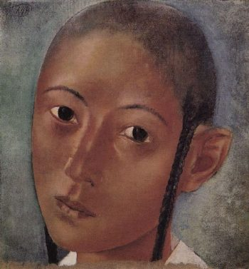 Head boy Uzbeks 1921 | Petrov Vodkin Kuzma Sergeevich | oil painting