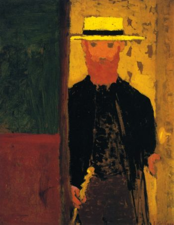 Self Portrait with Cane and Straw Hat | Edouard Vuillard | oil painting