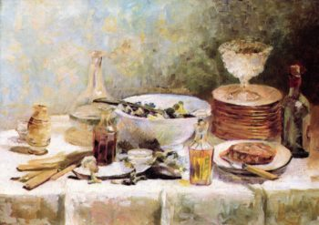 Still Life with Salad Bowl | Edouard Vuillard | oil painting