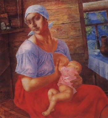 Mother 1915 | Petrov Vodkin Kuzma Sergeevich | oil painting