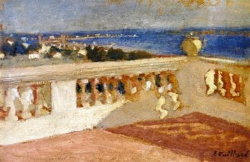 The Bay of Cannes Seen from the Terrace   Edouard Vuillard   oil painting