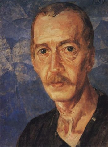 Portrait SD Mstislavsky 1929 | Petrov Vodkin Kuzma Sergeevich | oil painting