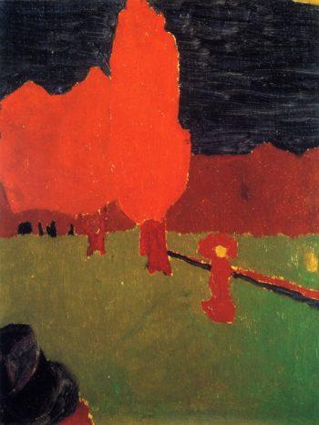 The Bois de Boulogne   Edouard Vuillard   oil painting