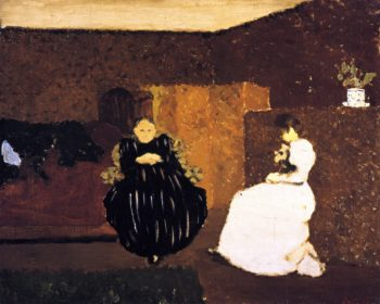 The Chat | Edouard Vuillard | oil painting