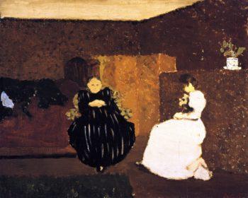 The Chat | Edouard Vuillard | oil painting
