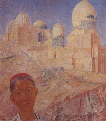 Shah i Zinda Samarkand 1921 | Petrov Vodkin Kuzma Sergeevich | oil painting