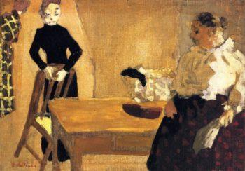 The Conversation   Edouard Vuillard   oil painting