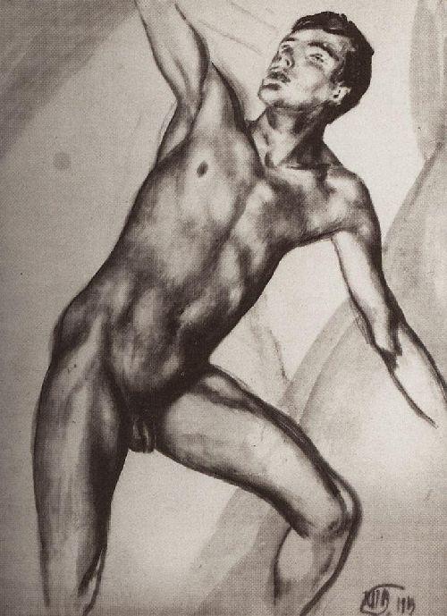 sitter 1913 | Petrov Vodkin Kuzma Sergeevich | oil painting