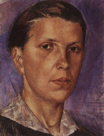 Portrait NL 1922 | Petrov Vodkin Kuzma Sergeevich | oil painting