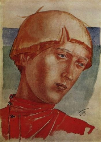 head boys 1918 | Petrov Vodkin Kuzma Sergeevich | oil painting