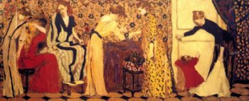 The Dressmaking Studio II   Edouard Vuillard   oil painting
